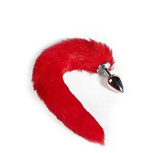 Plug Anal Rabo de Raposa - Vermelho 40 cm Tamanho M