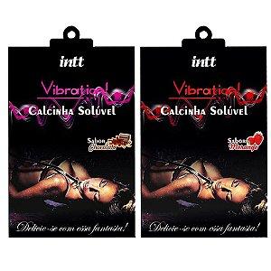 Calcinha Comestível Vibration Intt -  Sabor Morango