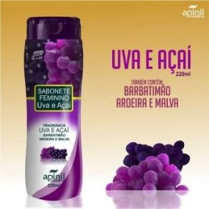 Sabonete Intimo 210ml Apinil - Uva e Açaí