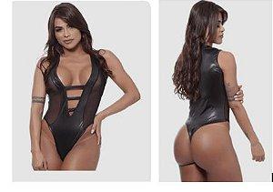 Body Com Tela Linha Madame E-X Miss Collection