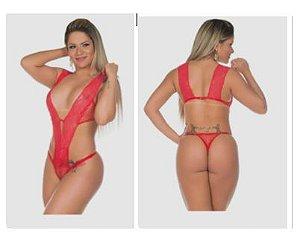 Body Sensual Arrastão Cores disponíveis Preto e Vermelho