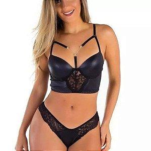 Conjunto Sensual Mulher Gata de Prazer