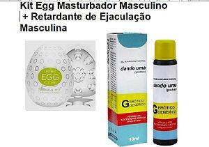 Kit Egg Masturbador Masculino + Retardante de Ejaculação Masculina