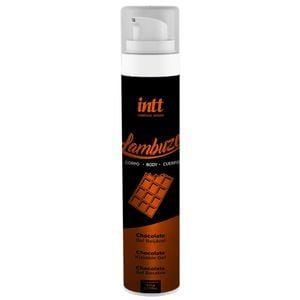 Gel Saborizado e Beijável Lambuze Chocolate Massagens Sensuais  Unissex Com Efeito Térmico