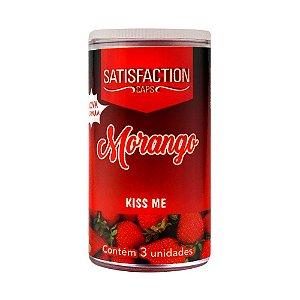 Bolinha Beijável Kiss Me Morango Hot C/3 Satisfaction Ies