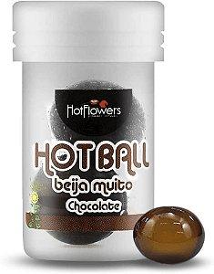 Hot Ball Beija Muito Chocolate  C/2 Un Hot Flowers