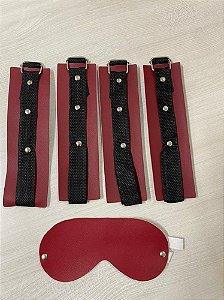 Kit Top Bondage Venda Luxo Gratis Vermelha