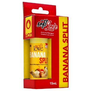 Gel Comestível Hot 15ml Soft Love Banana Split