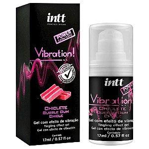 Vibration Gel Excitante Que Vibra Power Extra Forte Sabor Chiclete 17Ml Intt