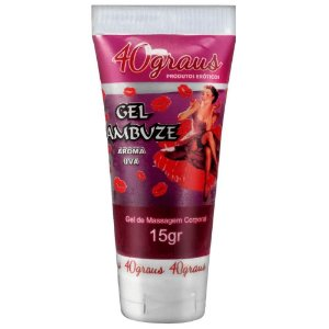 Gel Comestível Para Sexo Oral Lambuze Aroma Uva 15g 40 Graus