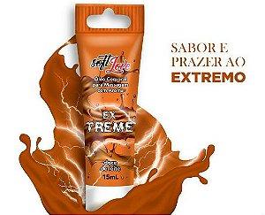 Vibrador Líquido Em Gel Comestível Ex Treme Aroma Doce de Leite 15ml Soft