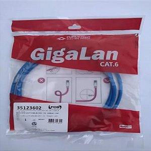 PATCH CORD U/UTP GIGALAN CAT.6 - CM - T568A/B - 1.5M - AZ - 35123602 - FURUKAWA