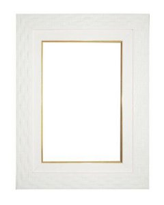 Moldura para Telas de Pintura 0083 Branca