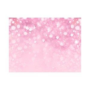 Painel de Festa Reto Brilho Rosa