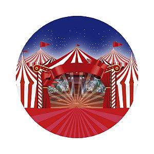Painel de Festa Redondo Circo Arquibancada