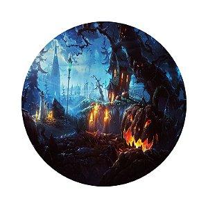 Painel de Festa Redondo Halloween Cenário