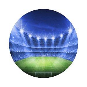 Painel de Festa Redondo Estádio Futebol Azul