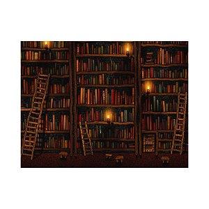 Painel de Festa Reto Estante de Livros