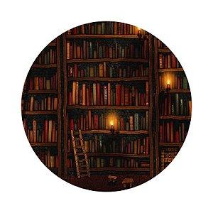 Painel de Festa Redondo Estante de Livros