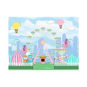 Painel de Festa Reto Parque Roda Gigante