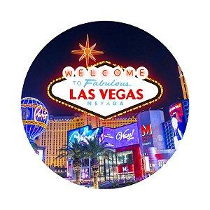 Painel de Festa Redondo Las Vegas Noite