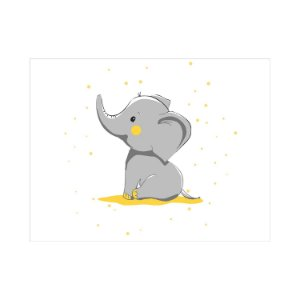 Painel de Festa Reto Elefante Glitter
