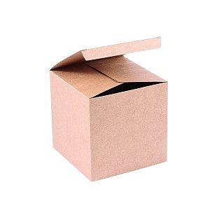 Caixa de presente 11x11x11cm - kraft
