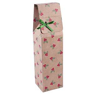 Caixa para garrafa estampa natal