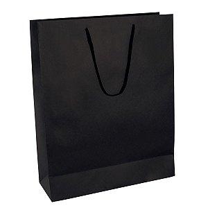 Sacola de papel colorida 34x42,5x12cm - preta