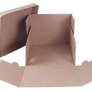 Embalagem p/ Torta 25,5x25,5x20cm - kraft