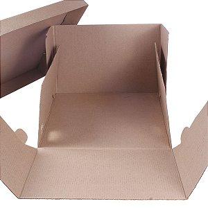 Embalagem p/ Torta 31x31x20cm - kraft