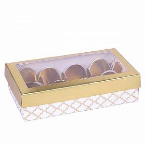 Embalagem para docinhos  14,3X8,3X3,5 - 8 doces - estampada - 10 unid.