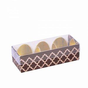 Embalagem para docinhos 10,2x3,8x3cm - 3 doces - estampada - 10 unid.