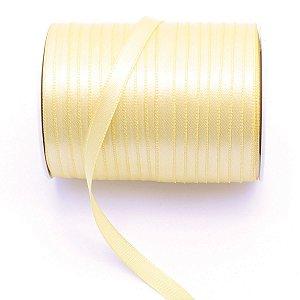 Fita de cetim Gitex nº1 - 7mm c/100mts -  190 amarelo bebê