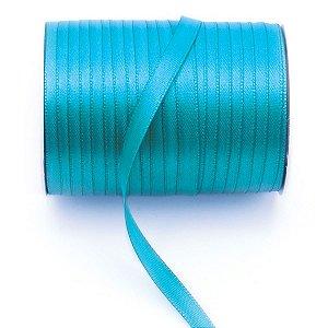 Fita de cetim Gitex nº1 - 7mm c/100mts - 121 azul petróleo