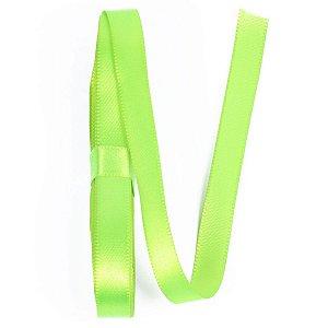 Fita de cetim Gitex nº2 - 10mm c/10mts -  154 verde fluorescente
