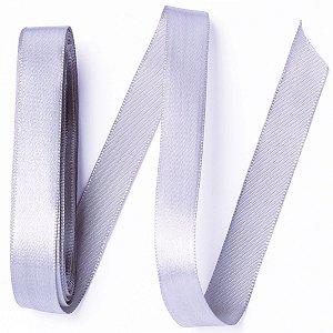 Fita de cetim Gitex nº3 - 15mm c/10mts - 124 prata