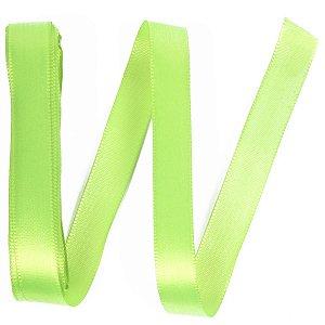 Fita de cetim Gitex nº3 - 15mm c/10mts - 154 verde fluorescente