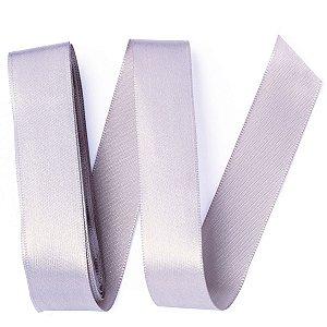 Fita de cetim Gitex nº5 - 23mm c/10mts - 124 prata