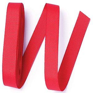 Fita de gorgurão Sinimbu nº3 - 16mm c/10mts - 976 vermelha