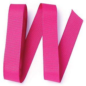 Fita de gorgurão Sinimbu nº5 - 22mm c/10mts - 1728 rosa pink