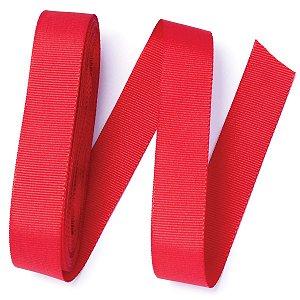 Fita de gorgurão Sinimbu nº5 - 22mm c/10mts - 976 vermelha