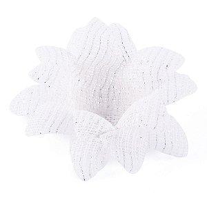 Forminhas para doces Aninha Tela - branca c/ fio prata