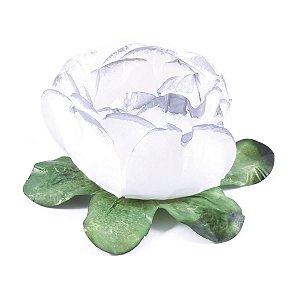Forminhas para doces Bouganville Beauty - branca c/ borda prata