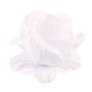 Forminhas para doces Bouganville Rosa - branca c/ folha branca