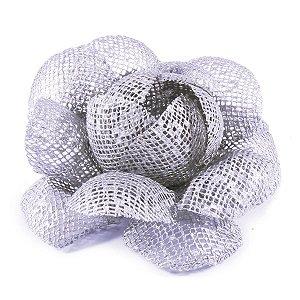 Forminhas para doces Camélia Chanel Tela - prata