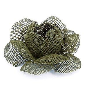 Forminhas para doces Camélia Chanel Tela- verde militar