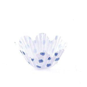 Forminhas para doces nº5 - poa branca com azul