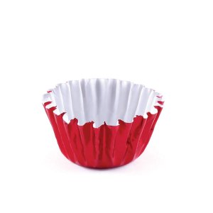 Forminhas para doces nº5 metalizada - vermelha