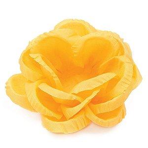 Forminhas para doces Rosa Grande frisada - amarela